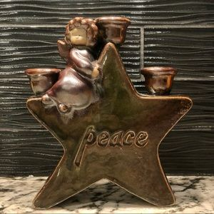 Peace Star Angel Candle Holder